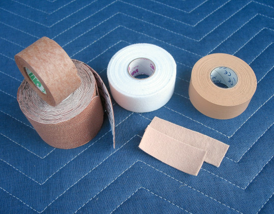 Medical tape products used by location sound recordists and production sound mixers